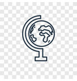 school globe concept linear icon isolated on vector image