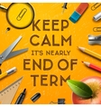 schools out end term vector image