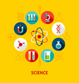 science concept icons vector image vector image