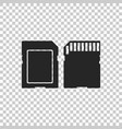 sd card icon isolated memory card adapter icon vector image vector image