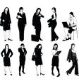 set of 10 office women vector image vector image