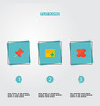 set of project icons flat style symbols with pin vector image vector image