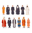 set religion people different characters vector image