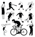 set sports icons vector image
