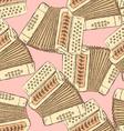 Sketch accordion music instrument vector image
