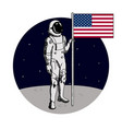 space walk on lunar surface usa astronaut vector image vector image
