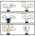 Speech Bubble Communication With Businessman In