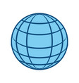 sphere web networking vector image vector image