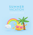 summer vacation realistic design template 3d vector image