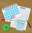 term of payment of taxes vector image vector image