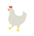 The chicken goes vector image vector image