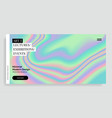 vibrant gradient holographic background vector image vector image