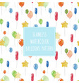 watercolor balloons seamless holiday pattern vector image vector image