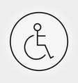 wheelchair disabled person icon human on vector image vector image