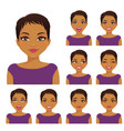 woman emotion set vector image vector image