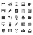 workspace icons on white background vector image