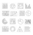 Graphs Line Icon Set vector image