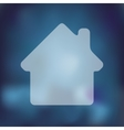 house icon on blurred background vector image
