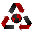 Abstract pollution threat recycle logo and globe vector image vector image