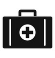 aid kit icon simple style vector image