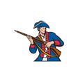 American Patriot Militia Musket Retro vector image vector image