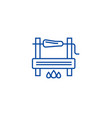 bbg cooking line icon concept bbg cooking flat vector image vector image