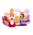 beer fest concept vector image vector image
