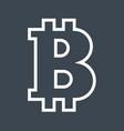 bitcoin thin line icon vector image vector image