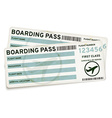 Boarding pass tickets vector image vector image