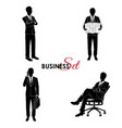 businessman set man in a business suit vector image vector image