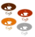 Caffee set design vector image