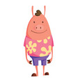 cartoon pig in youth clothes with floral pattern vector image vector image
