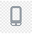 cellphone concept linear icon isolated on vector image