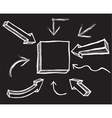 Chalk Arrows Hand drawn vector image vector image
