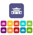 chinese icons set flat vector image vector image