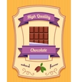 Chocolate bar poster vector image