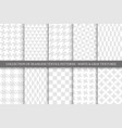 collection white and gray textile seamless vector image vector image