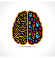 Conceptual idea -Brain with yen symbol vector image