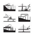 construction of different bridges vector image vector image