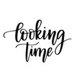 cooking time lettering design for kitchen vector image