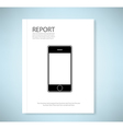 Cover report phone vector image