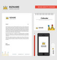 crown business letterhead calendar 2019 and vector image vector image