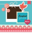 Design of Scrapbook icons design vector image