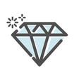 diamond jewel symbol icon vector image vector image
