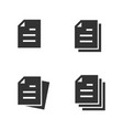 document icon set isolated on white vector image vector image