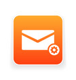email icon with settings sign vector image