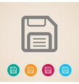 floppy disk storage icon vector image