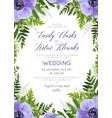 forest green wedding floral card design vector image vector image