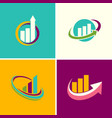 graph finance logos vector image vector image