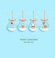 happy 2021 new year with symbols in snow globes vector image vector image